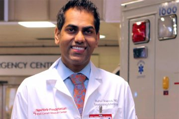 Portrait of Dr. Rahul Sharma, the emergency physician-in-chief at NewYork-Presbyterian/Weill Cornell Medical Center
