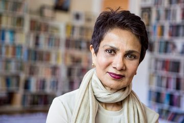 A portrait of cancer researcher Dr. Azra Raza