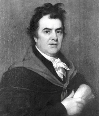 A portrait of Dr. David Hosack, who served as Alexander Hamilton's personal physician