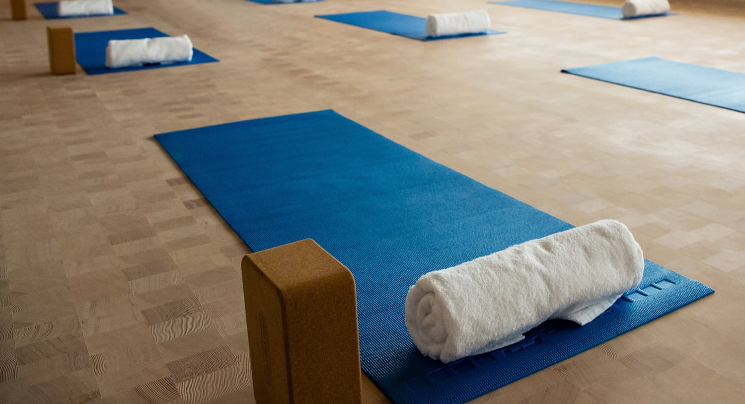 Yoga mats in Integrative Health and Wellbeing's multipurpose room
