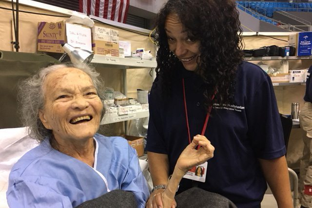 Portrait of a healthcare provider with a patient