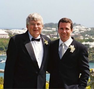 Photo of Dr. Stiles and his father, Kenneth, in 2002