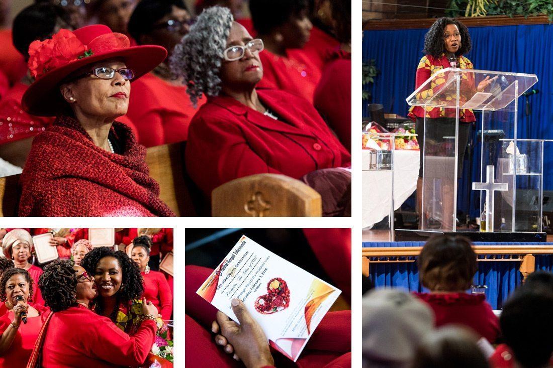Dr. Naa-Solo Tetty addressing HeartSmarts graduates at Bethel Gospel Tabernacle in Queens, N.Y.