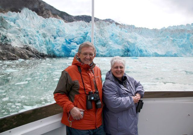 Bill and Joan McComas in Alaska in 2010