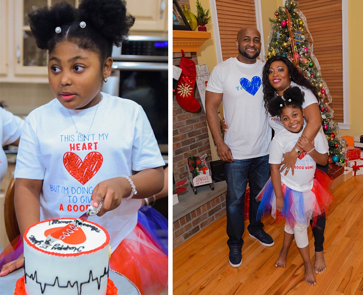 Jenna Skeete celebrating the 5 year anniverary of her heart transplant.