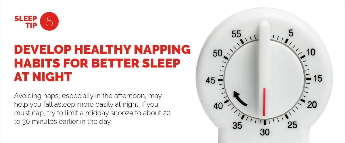 Text explaining the importance of healthy napping habits