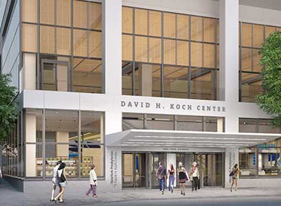 A rendering of the NewYork-Presbyterian David H. Koch Center