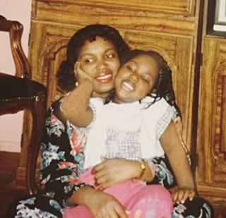 A photo of Danica Dorlette, age 5, with her mother, Willianie Seide