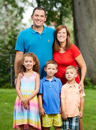 Portrait of the Vander Molen family