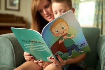 Cynthia Vander Molen reading to son Jack