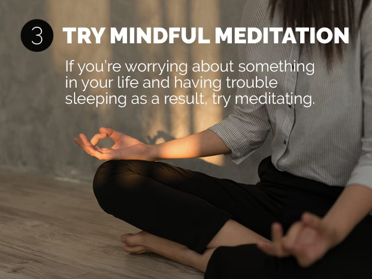 Text explaining the importance of mindful meditation to help you adjust to daylight saving time.