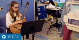 Former Patient Returns to the NICU to Give the Gift of Music