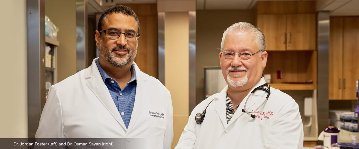 Portrait of Drs. Jordan Foster and Osman Sayan