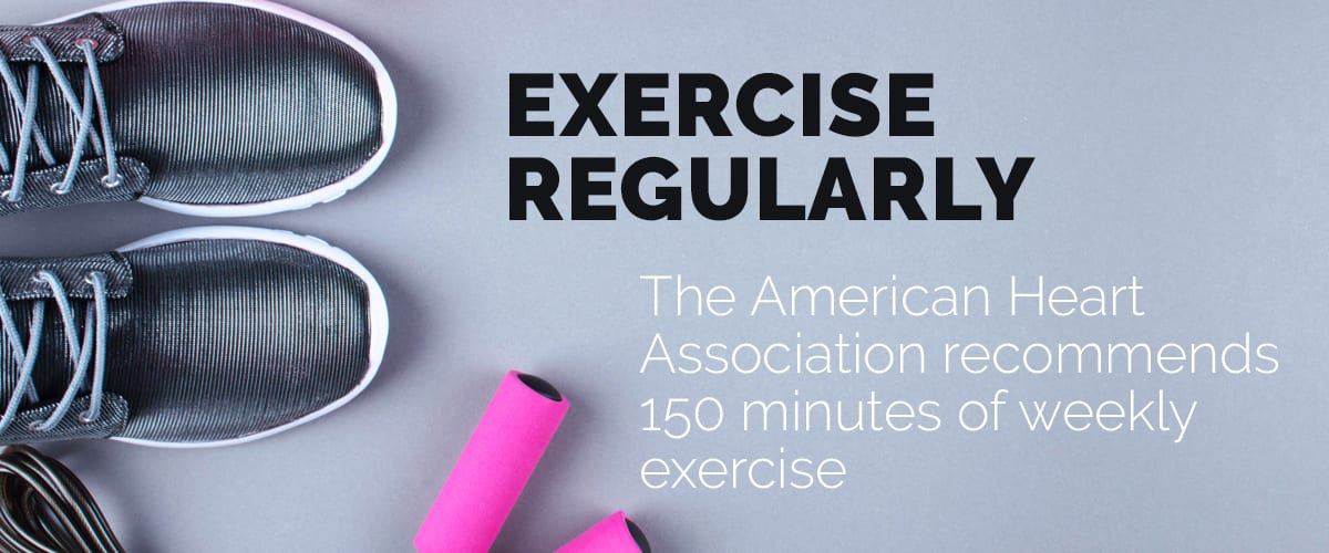Text explaining the importance of regular exercise