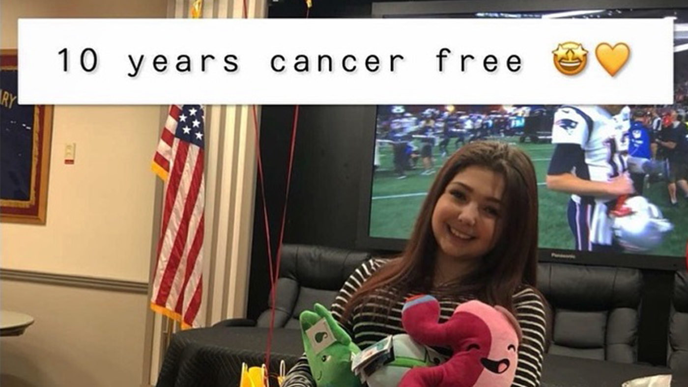 Amazing Patient Heather McNamara celebrating being 10 years cancer-free