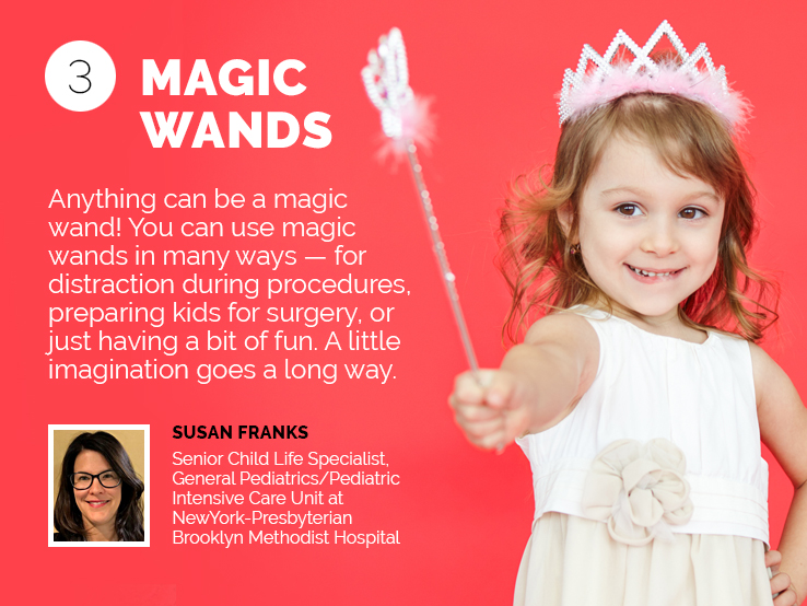 Text explaining why magic wands can help kids in the hospital