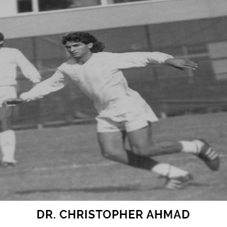 Dr. Christopher Ahmad as a child