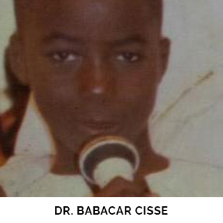 Dr. Babacar Cisse as a child
