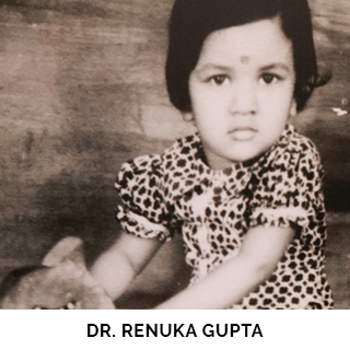 Dr. Renuka Gupta as a child