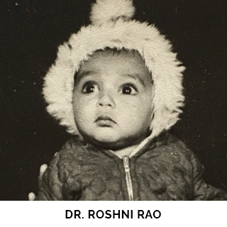 Dr. Roshni Rao as a child