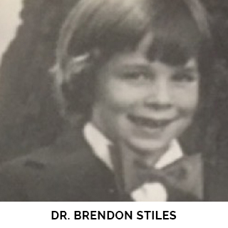 Dr. Brendon Stiles as a child