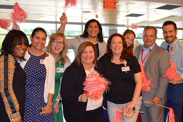 Staffers at NewYork-Presbyterian Hudson Valley Hospital celebrate
