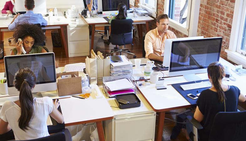 People sitting at desks