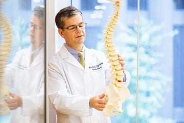 Portrait of Dr. Peter Angevine, spine surgeon