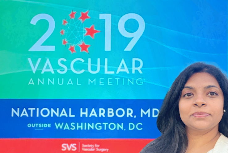 Dr. Sowmya Sreekanth at the 2019 Annual Meeting for the Society for Vascular Surgery
