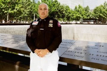 John Episcopo at the September 11 memorial
