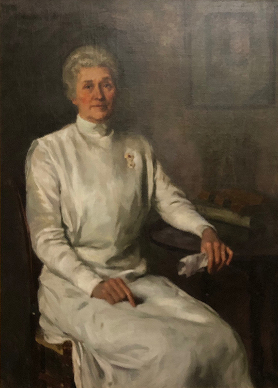 Painted portrait of Anna Maxwell.