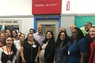 Mariano Rivera at school-based health center.