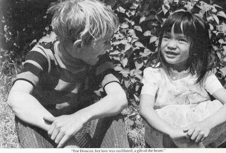 Duncan and Kim as children
