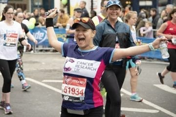 Stage 4 breast cancer patient Renée Sema at the London Marathon.