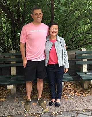 Stage 4 breast cancer patient Renée Seman with Dr. Kalinsky.