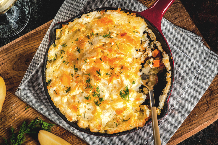 Turkey Shepherd's Pie, a healthy Thanksgiving recipe.