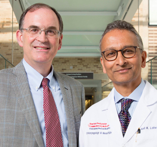 Jeffrey Kysar (left) and Dr. Anil Lalwani