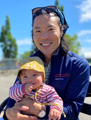 Dr. Robert Tanouye with his daughter.