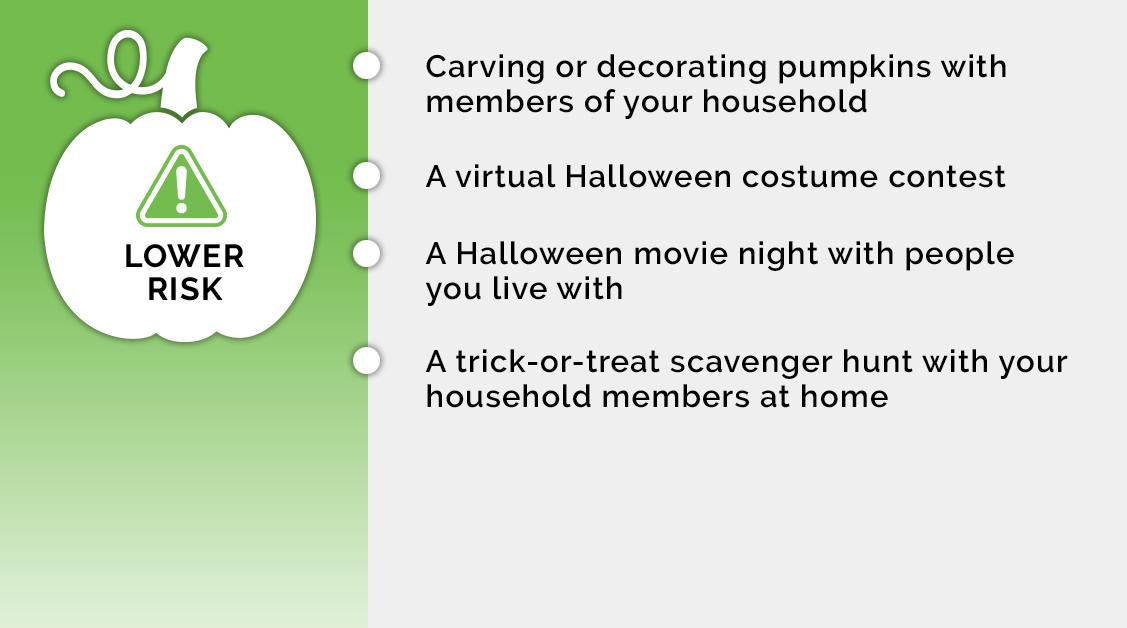 Lower Risk Halloween Activities