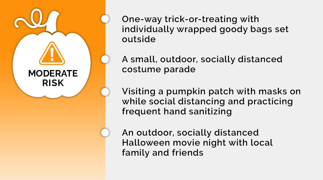Moderate Risk Halloween Activities
