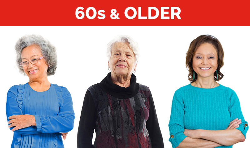women's health checklist for 60s and older
