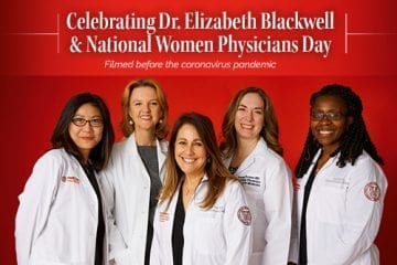 Graphic celebrating Dr. Elizabeth Blackwell & National Women Physicians Day