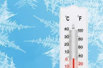 thermometer for winter weather tips