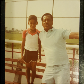 Dr. Carl Crawford Jr. and his father