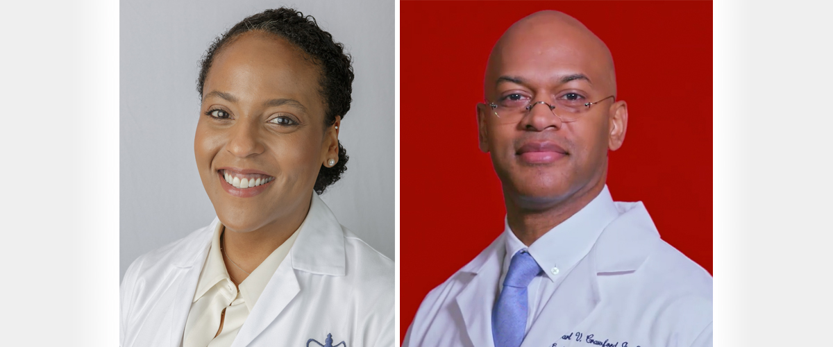 Dr. Julia Iyasere and Dr. Carl Crawford
