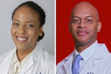 Dr. Julia Isysere and Dr. Carl Crawford