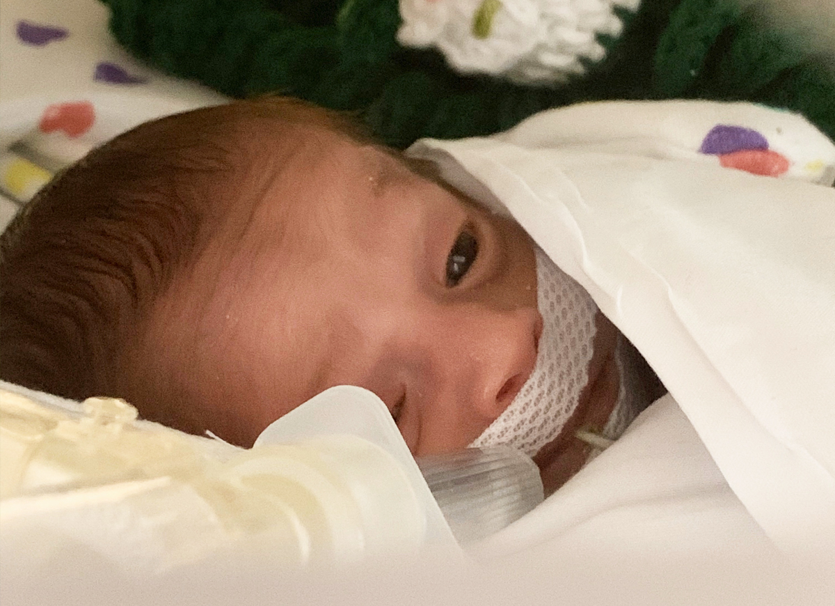Jamie Coleman in the NICU during the pandemic