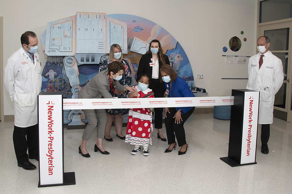 Ribbon cutting to launch Disney initiative at NewYork-Presbyterian Morgan Stanley Children's Hospital on April 20.