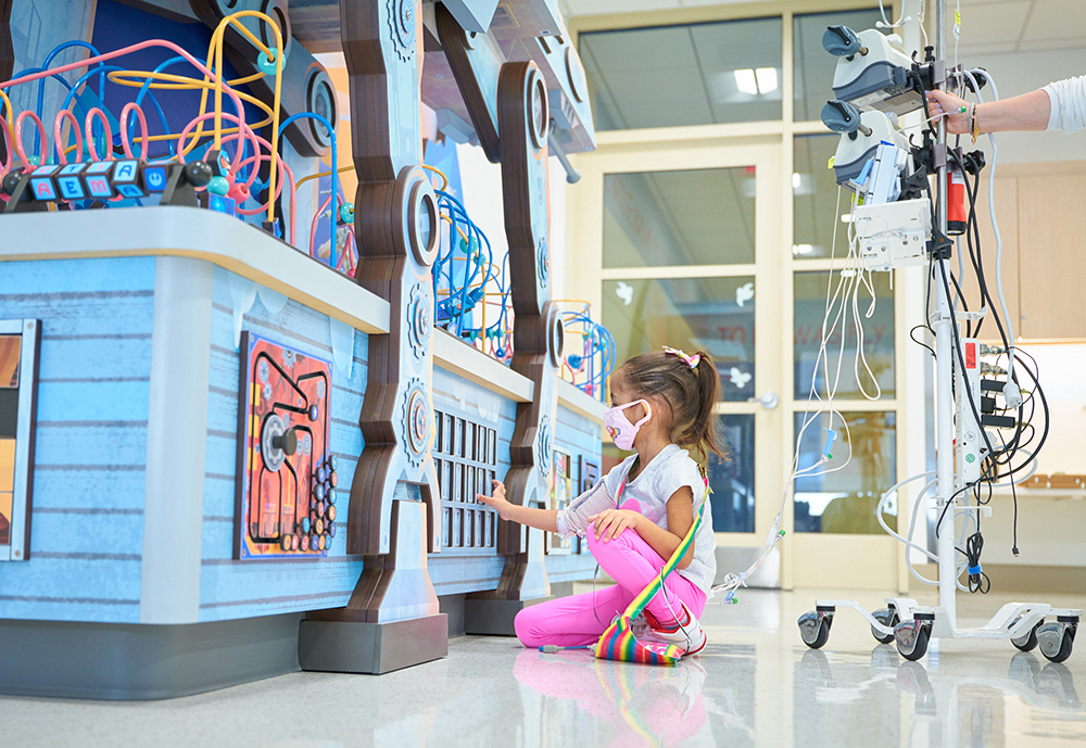 Disney-themed playspace at NYP Morgan Stanley Children's Hospital